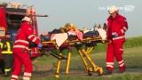 Übungsszenario mit Hubschrauberabsturz