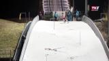 Slalom auf der großen Schanze in Hinzenbach