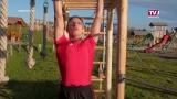 Energiesparmesse - Silberholz mit Fitnessturm aus Holz