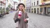Rundgang im Dorf der Stadt Linz