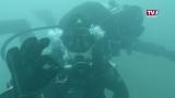 Unterwasser-attraktion - Pfahlbauten im See