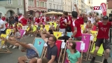 Public viewing bei Österreich - Ukraine in Wels
