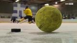 SV Ried Kicker tauschen Ball gegen Puck