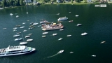 Seeprozession in Traunkirchen zu Fronleichnam