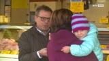 Arno Perfaller zu Besuch am Wochenmarkt in Gmunden