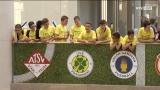 Meisterfeier des Fußballnachwuchses in der Plus City