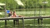 Badevergnügen in den Braunauer Moorseen