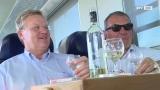 Picknick auf Schienen - Männer als Zug-Koffer-Runde gesichtet