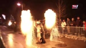 Spektakuläre Feuershow in Aschach