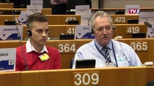 Europa-Quiz-Sieger mit Viktor Sigl in Brüssel