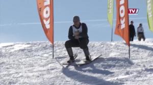 Skifahren wie früher - Fassdauben Rennen in Powang