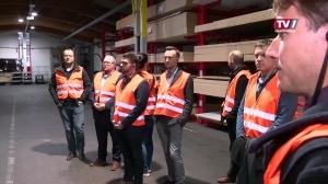 Welser Jungunternehmer auf Betriebsbesuch bei EWE