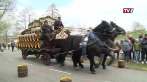 Bierwagen-*geschicklichkeitsfahren am Georgimarkt Wildenau