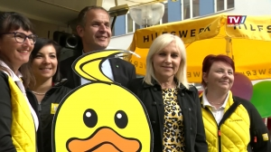 Angelika Winzig auf Wahlkampftour