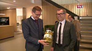 Wirtschaftslandesrat Achleitner in Eferding