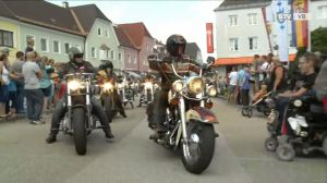 Harley-Davidson-Charity-Tour in Attnang-Puchheim
