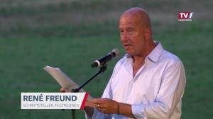 Rene Freund eröffnet die Frankenburger Würfelspiele