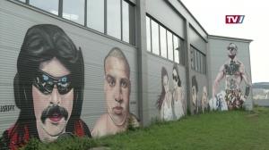 Mural Harbor - Wandgemälde im Linzer Hafen