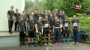 25 Lenzing AG Lehrlinge laufen beim 5-Brücken Lauf