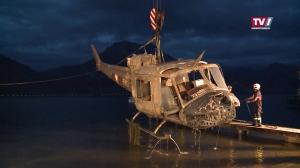 Übung: Hubschrauber Absturz im Traunsee