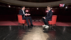 Bürgermeister Stefan Krapf im Gespräch mit Frank Tschautscher