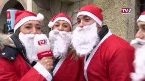 Hunderte Nikoläuse spazieren durch die Linzer Innenstadt