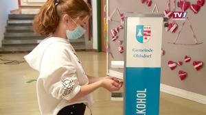 Gemeinde Ohlsdorf setzt bei der NMS auf Desinfektionsmittel ganz ohne Alkohol