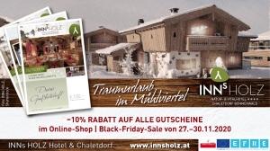Spot Black Friday - Chaletdorf Böhmerwald Gutscheine