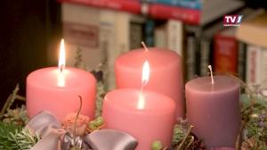 Zweite Kerze - Adventkranz im Stift Mattighofen