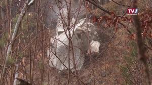 Felsblock in Gmunden wurde gesprengt