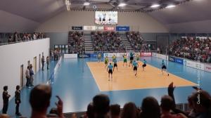 Bau einer Volleyballhalle