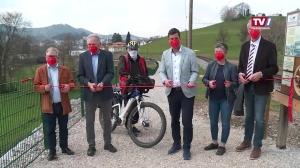 Neugestalteter Rad- und Wanderweg entlang der Pferdeeisenbahn in Gmunden