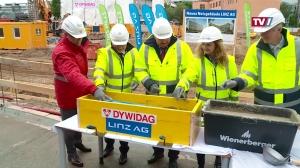 Baufortschritt des neuen Netzgebäudes der Linz AG