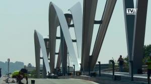 Eröffnung neue Eisenbahnbrücke Linz