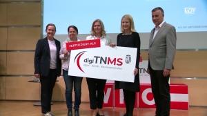 40 Schulen mit dem Digi-TNMS-Zertifikat ausgezeichnet
