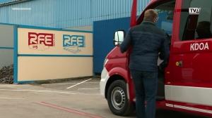 Neue Brückenwaage beim Vöcklabrucker Familienunternehmen RFE Gase GmbH