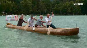 Mit nur einem Baum zur See - die Einbaum Olympiade am Attersee