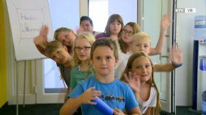 Kinder machen Fernsehen – der Ferienspaß Schwanenstadt zu Besuch im BTV-Studio