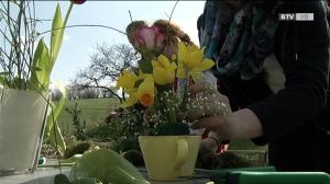 Frühlingskränze und Tischgedecke zum Selbermachen