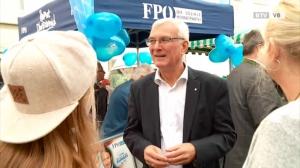 Elmar Podgorschek am Wochenmarkt in Vöcklabruck