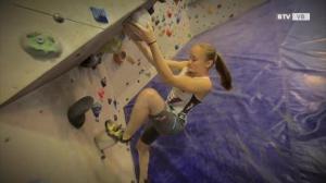 Junioren-Weltmeisterin im Klettern