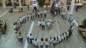 Flashmob OÖ Bläserakademie in der Weberzeile Ried