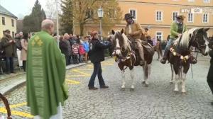 Erster Leonhardiritt in Peuerbach