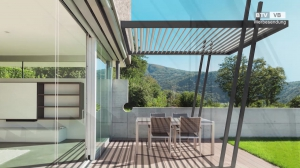 Lamellenpergola – intelligente Terrassenüberdachung