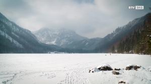 Winter am Langbathsee