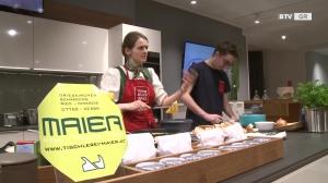 Fischpofesen & Topfennockerl - BTV kocht bei Möbel Maier