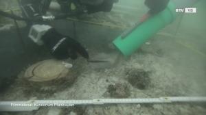 Grabungen nach prähistorischen Pfahlbauten am Mondsee