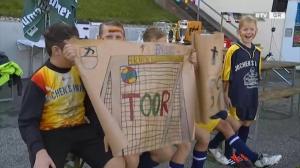 Vier Volksschulen - Ein Ziel! Das Fussballtor!