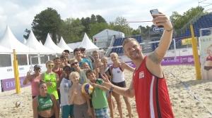Nachwuchsspieler am Center Court beim Pro Beach Battle in Litzlberg
