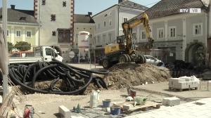 Umbauarbeiten am Vöcklabrucker Stadtplatz